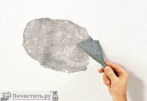 Сухой способ почистить стены от побелки