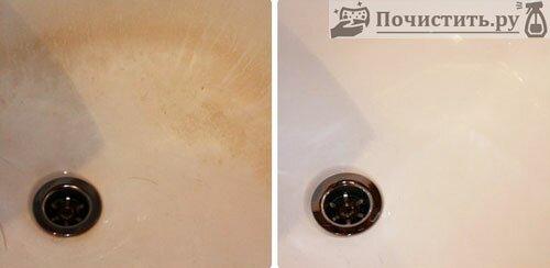 Как очистить ванную от ржавчину