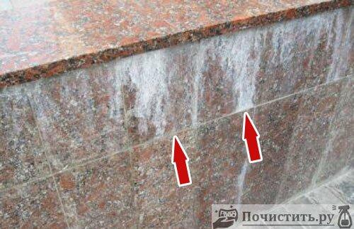 Защита мраморных изделий