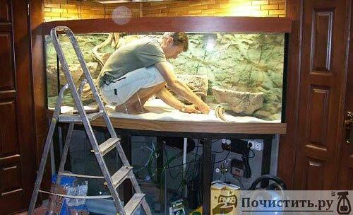 Как почистить стенки аквариума