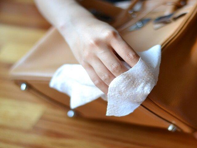 Как можно почистить кожаную сумку