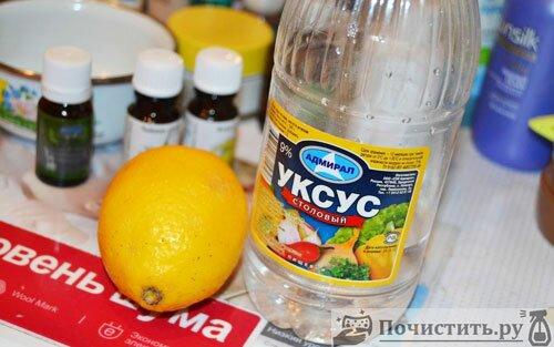 Лимонный сок и уксус для чистки нержавеющей посуды