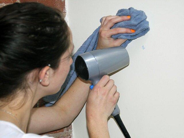 Чистим одежду от жевательной резинки, с помощью нагревания