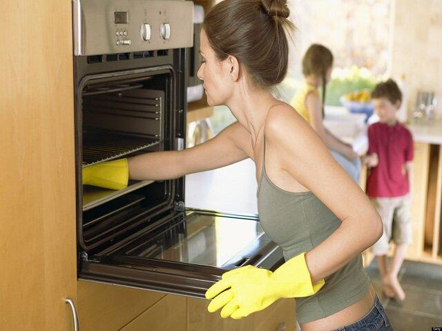 Помыть микроволновую печь