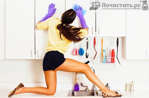Наводим чистоту на кухне