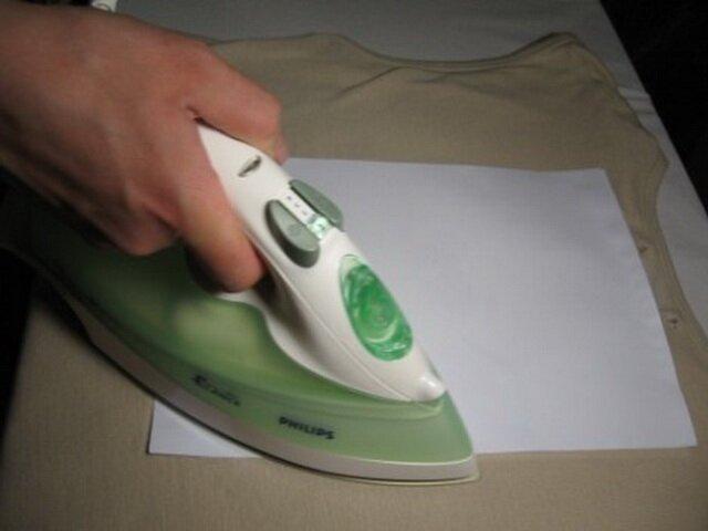 Глажка ткани утюгом