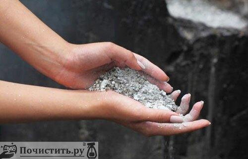 Чистящее средство из пепла