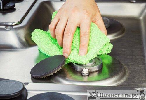 Чем можно почистить газовую конфорку
