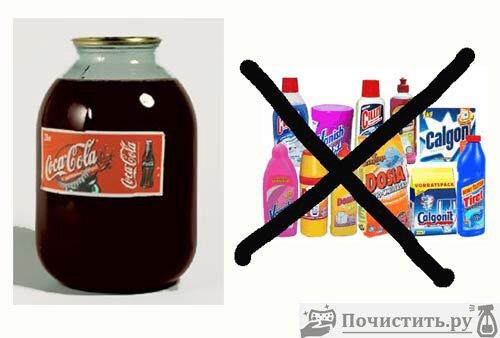 Как очистить при помощи кока колы