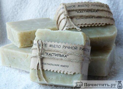 Кастильское мыло для чистки кухни от налёта