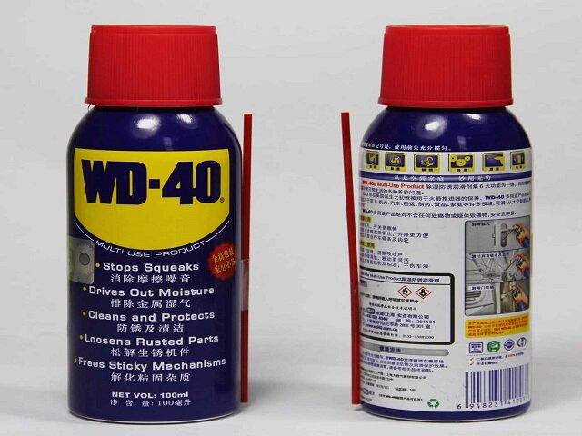 WD-40 для очищения волос от жвачки