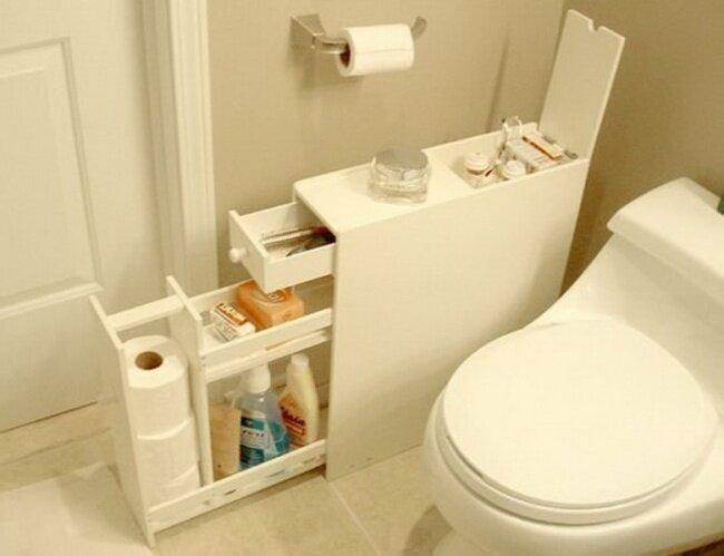 Узкий комод для ванной комнаты