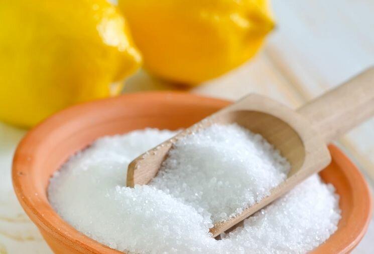 Используем лимонную кислоту из пакетика
