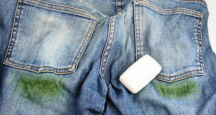 Удалить пятна от травы с джинсов в домашних условиях фото