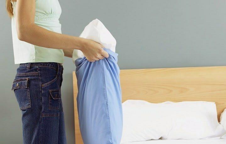 Можно ли стирать подушку пух-перо в стиральной машине фото